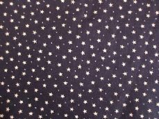 Navy with 3mm White Stars 100% Cotton Fabric